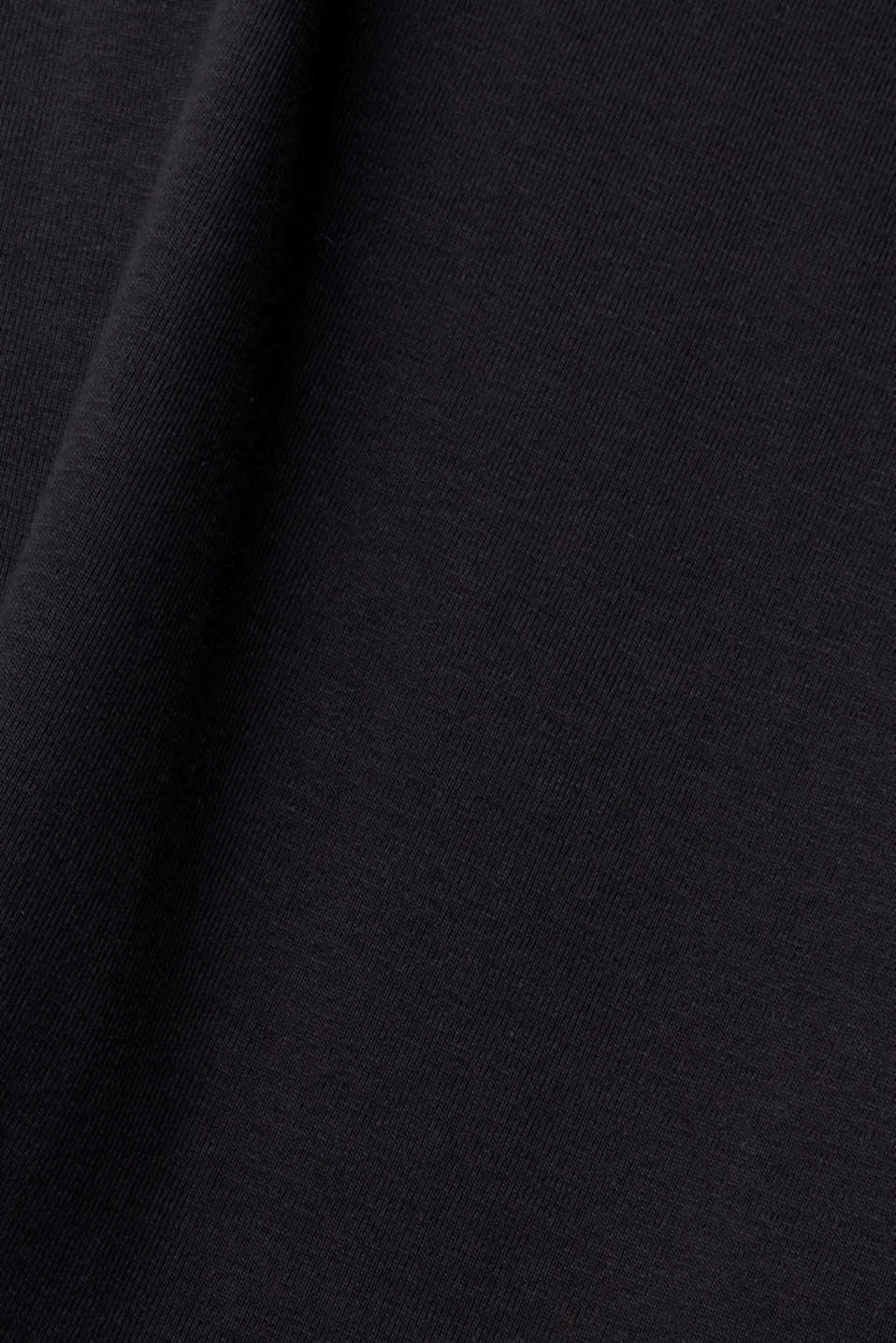 Ribbed jersey top made of 100% cotton, BLACK, detail image number 4