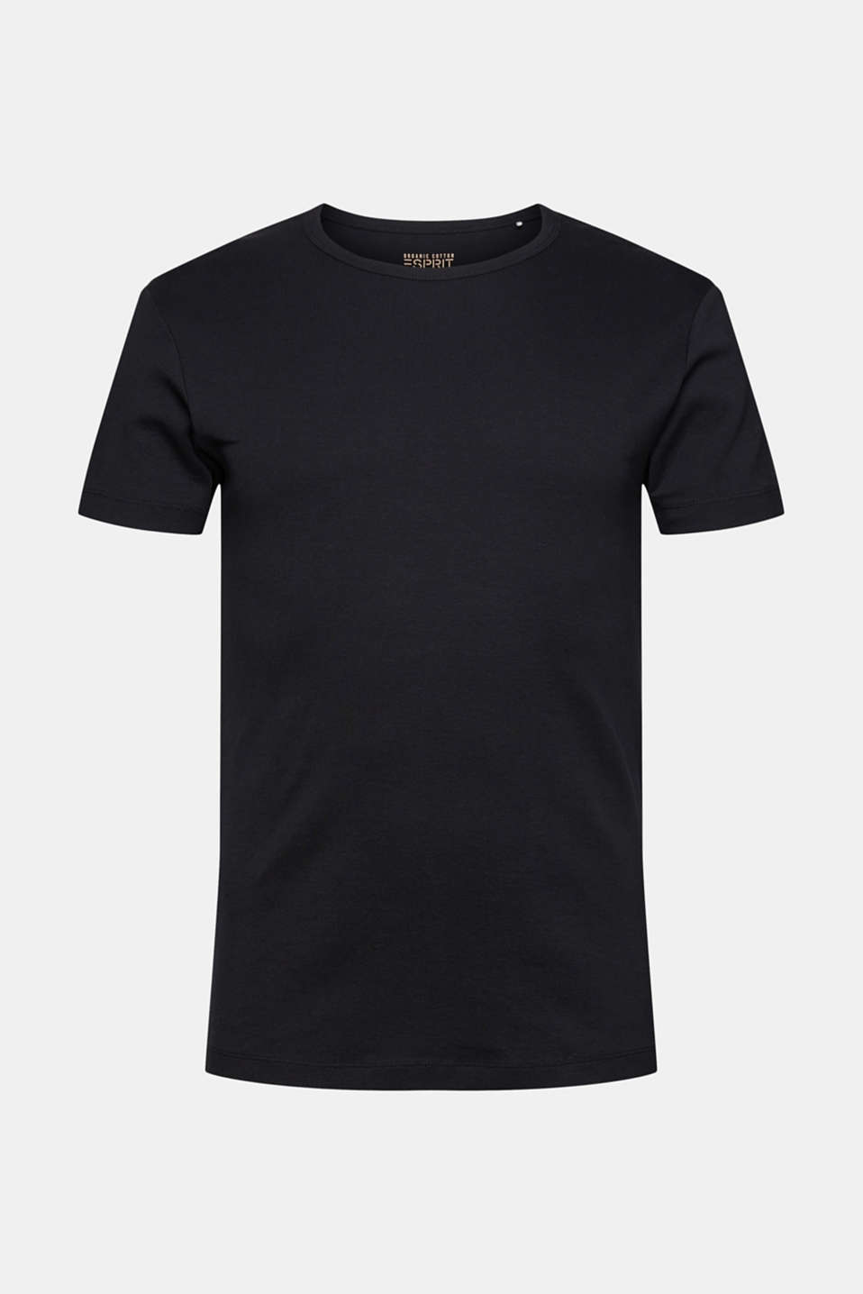 Ribbed jersey top made of 100% cotton, BLACK, detail image number 5
