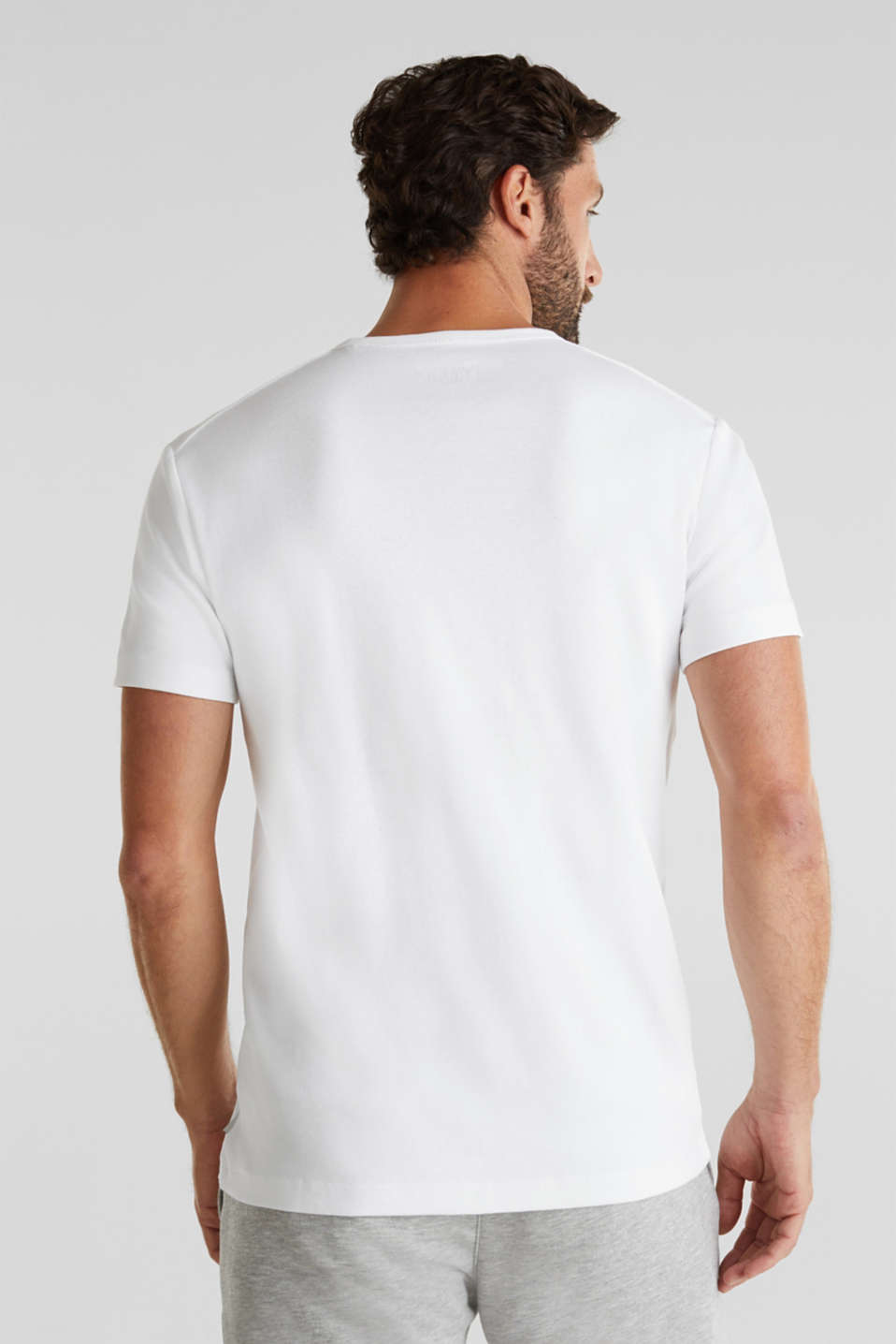 Ribbed jersey top made of 100% cotton, WHITE, detail image number 3