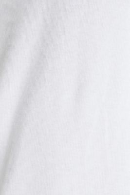 Ribbed jersey top made of 100% cotton, WHITE, detail