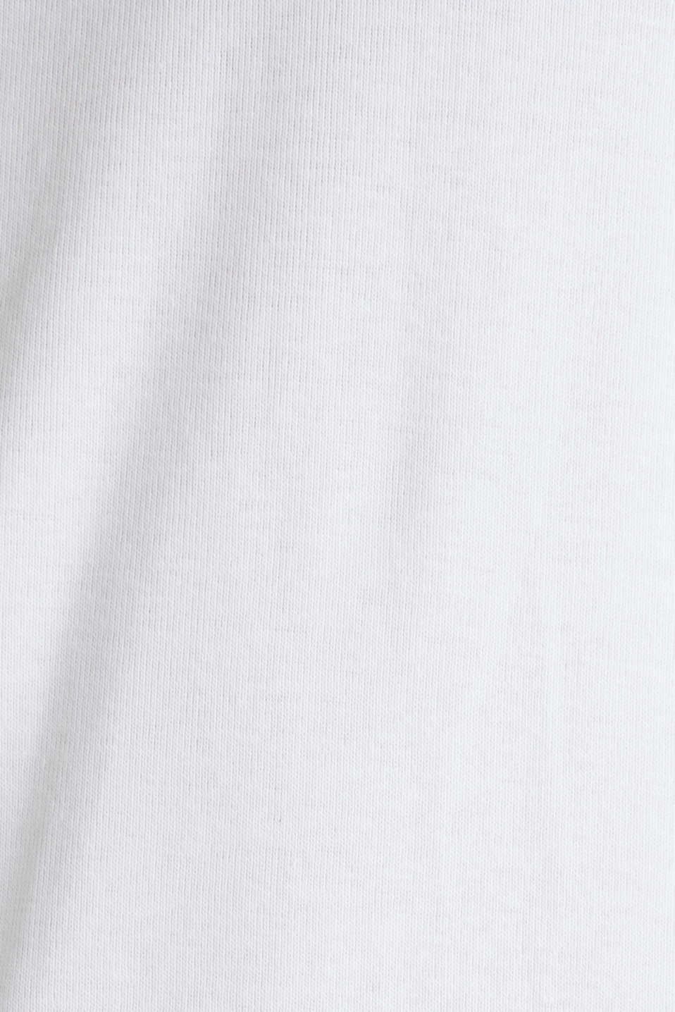 Ribbed jersey top made of 100% cotton, WHITE, detail image number 4