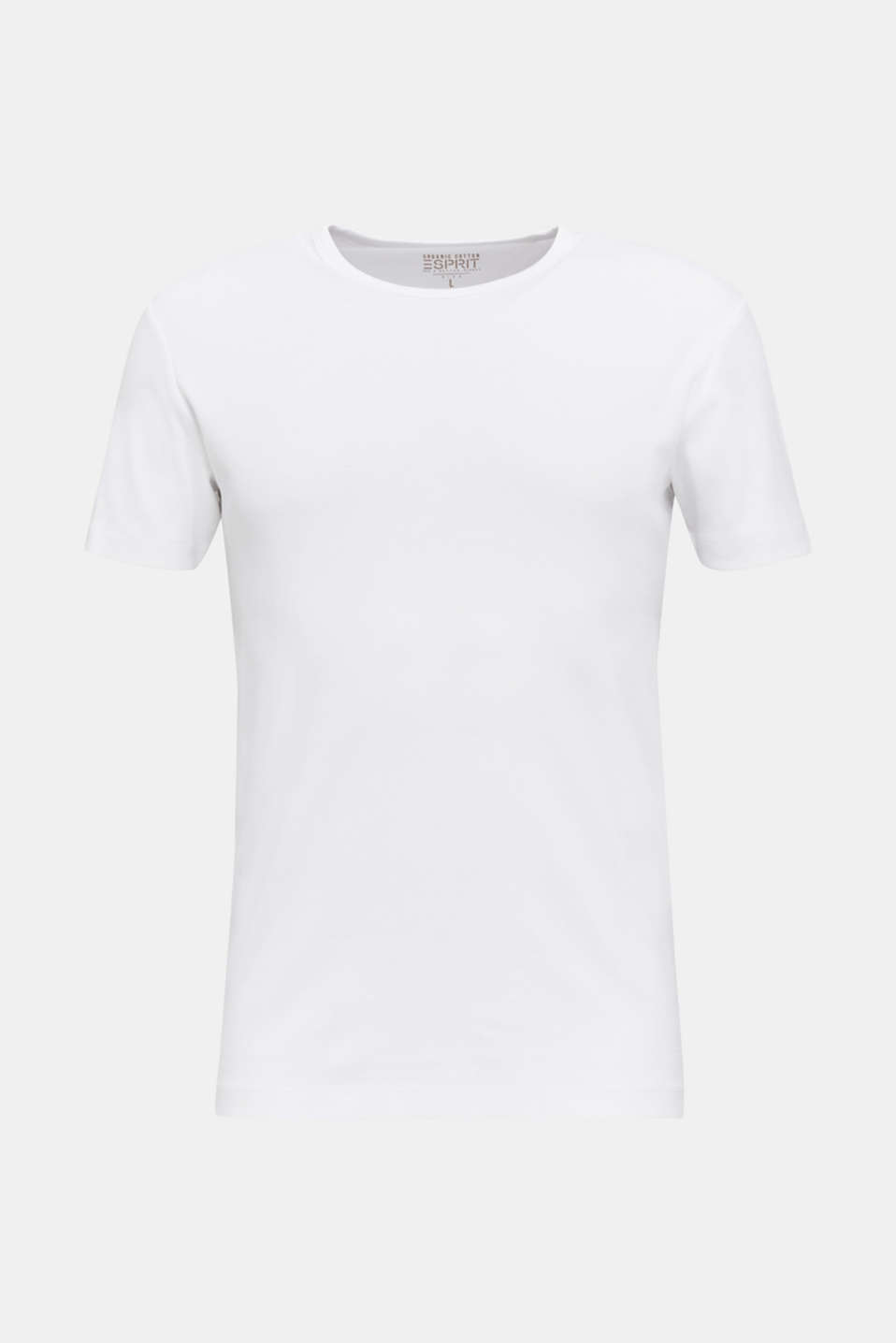 Ribbed jersey top made of 100% cotton, WHITE, detail image number 5