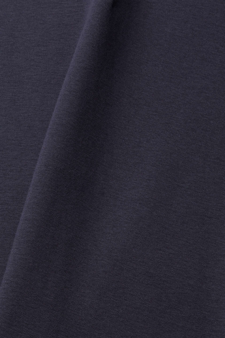 Ribbed jersey top made of 100% cotton, NAVY, detail image number 4