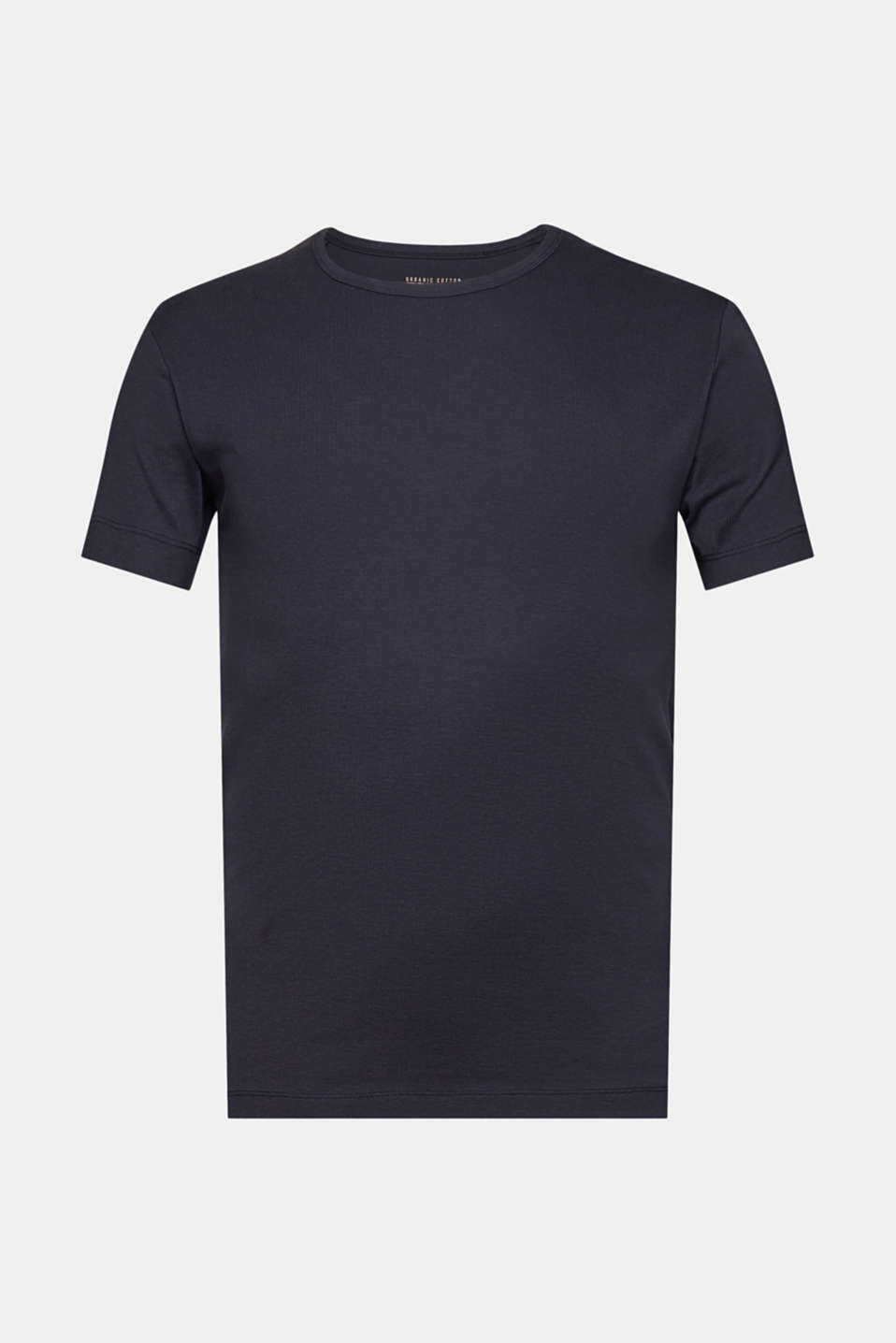 Ribbed jersey top made of 100% cotton, NAVY, detail image number 7