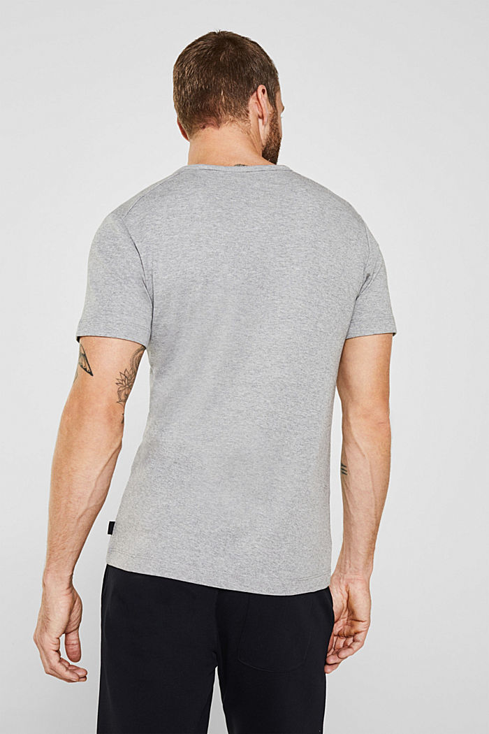 Ribbed T-shirt in blended cotton, MEDIUM GREY, detail image number 3