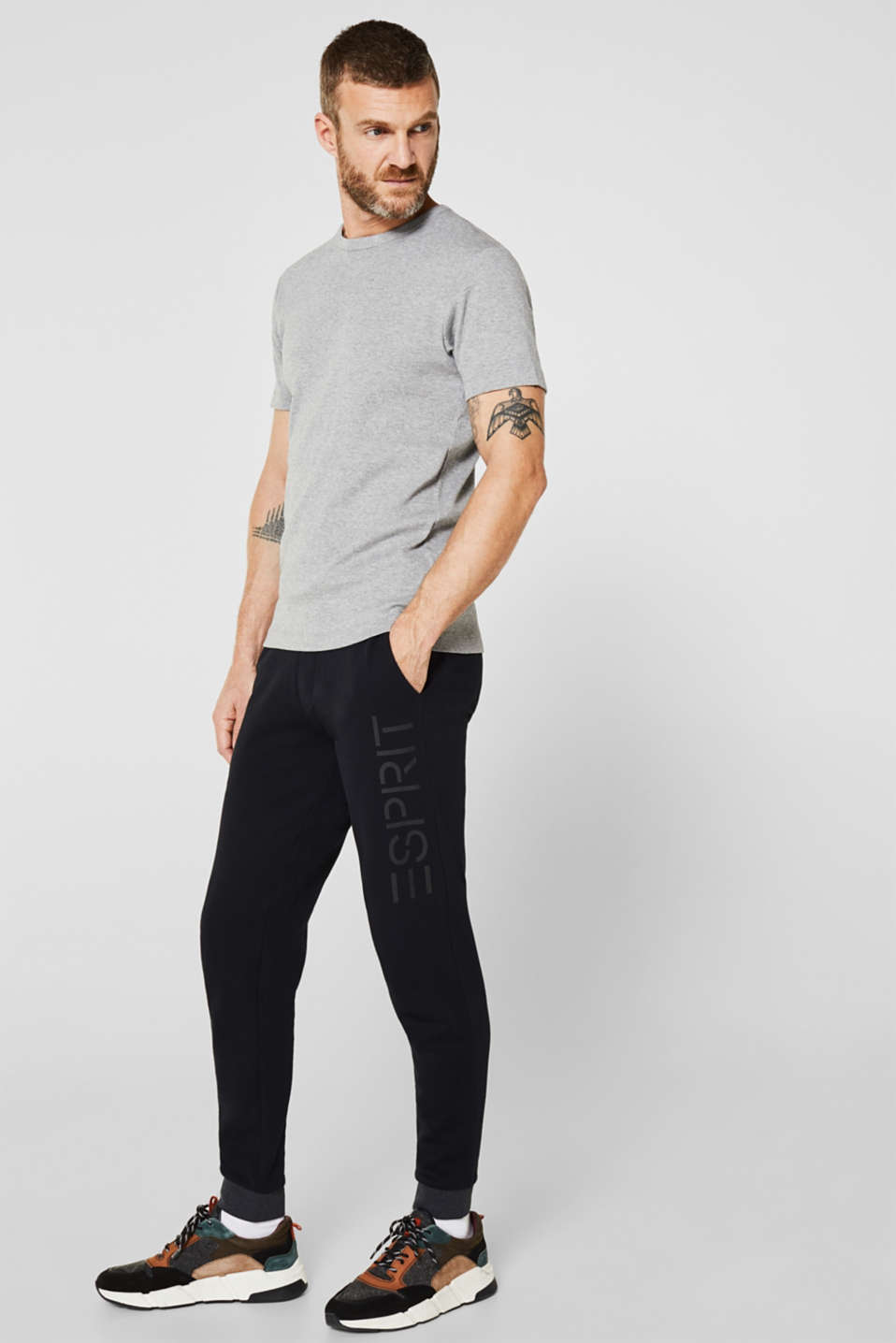 Ribbed T-shirt in blended cotton, MEDIUM GREY 5, detail image number 2