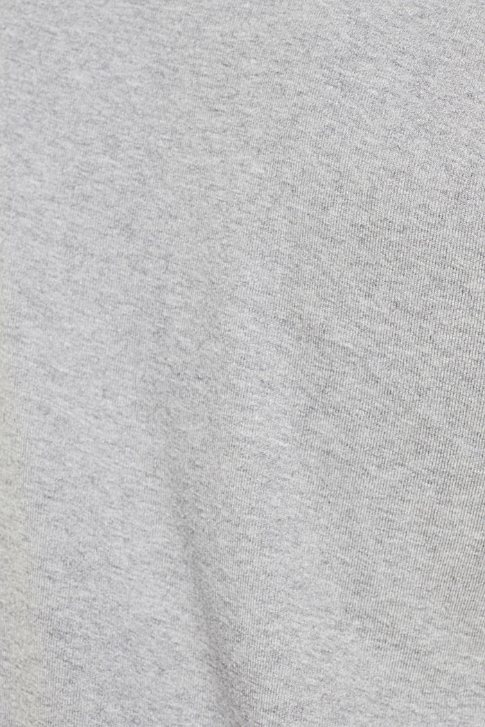 Ribbed T-shirt in blended cotton, MEDIUM GREY, detail image number 4