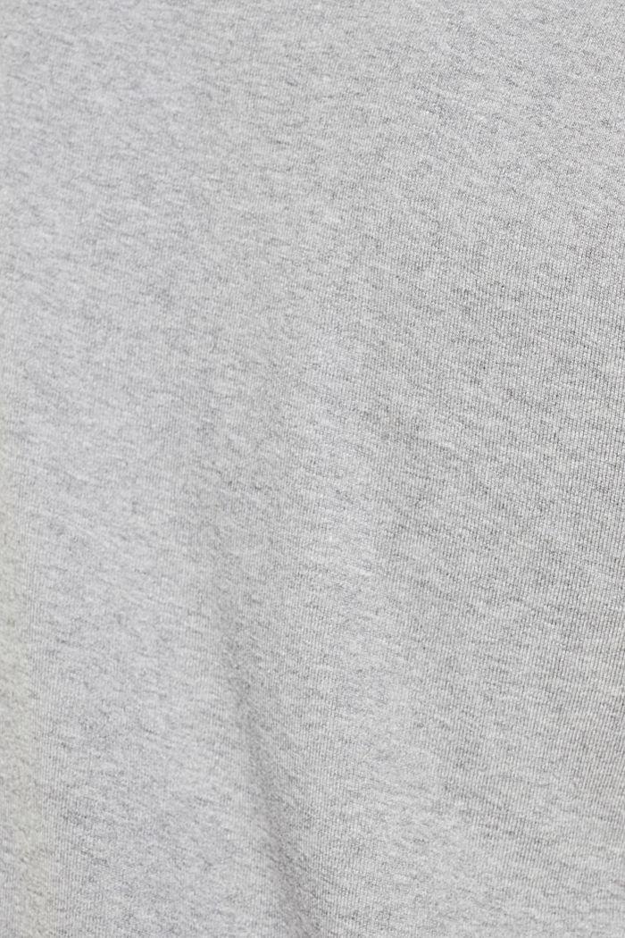 Camiseta de canalé en mezcla de algodón, MEDIUM GREY, detail image number 4