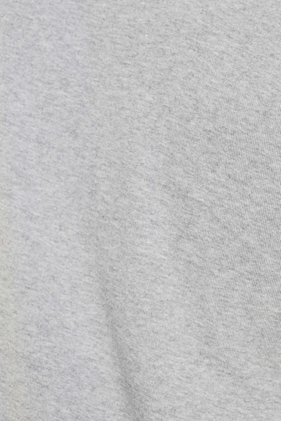 Ribbed T-shirt in blended cotton, MEDIUM GREY 5, detail image number 4