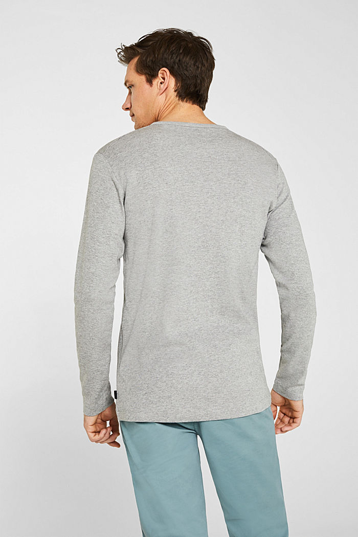 Ripp-Longsleeve aus Baumwoll-Mix, MEDIUM GREY, detail image number 2