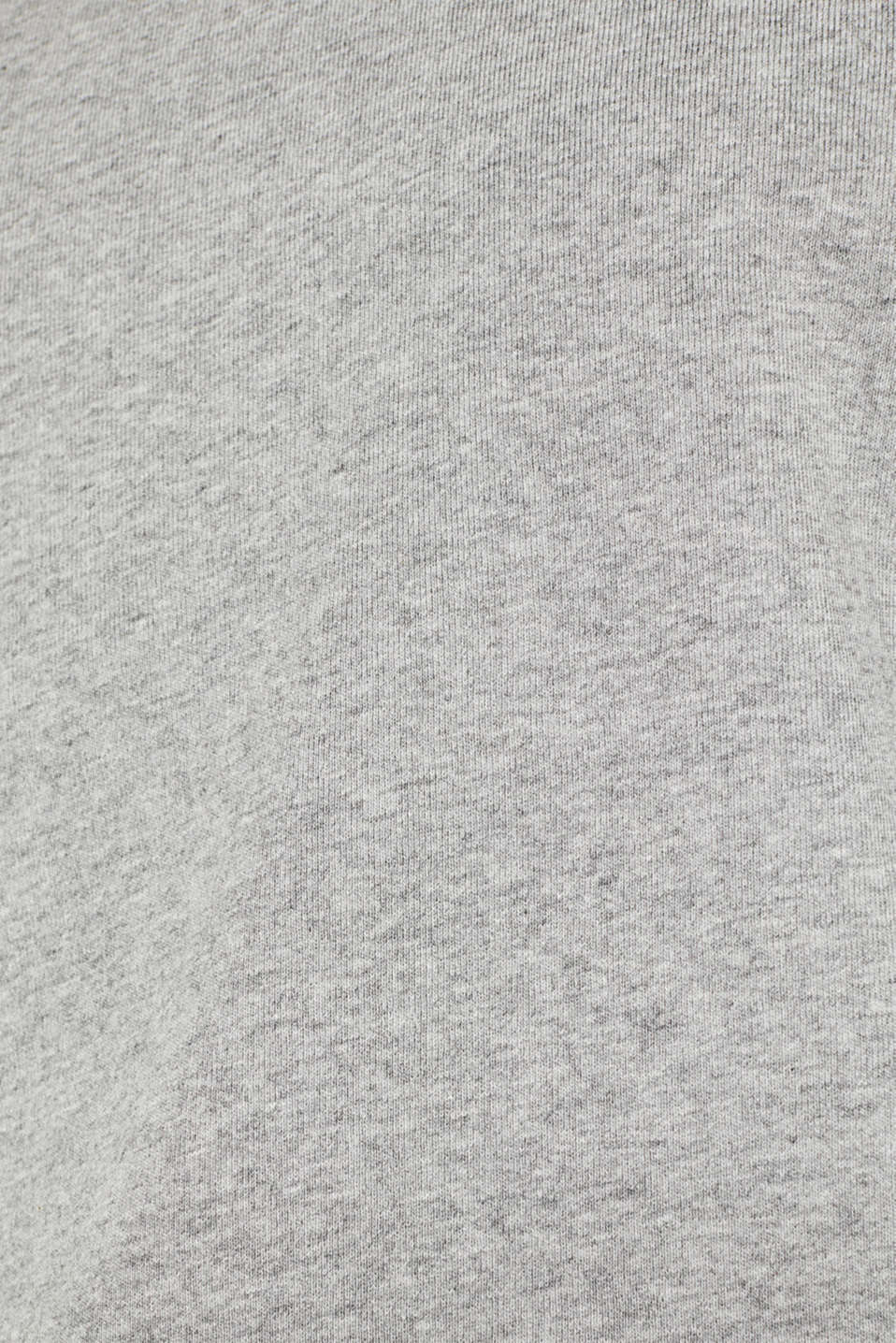 Ribbed long sleeve top in blended cotton, MEDIUM GREY 5, detail image number 4