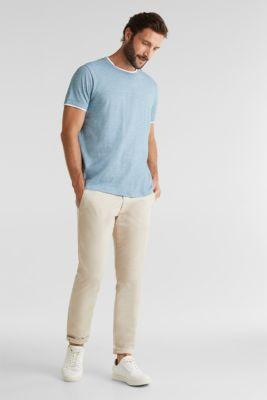 Layered jersey top, 100% cotton, PETROL BLUE 3, detail
