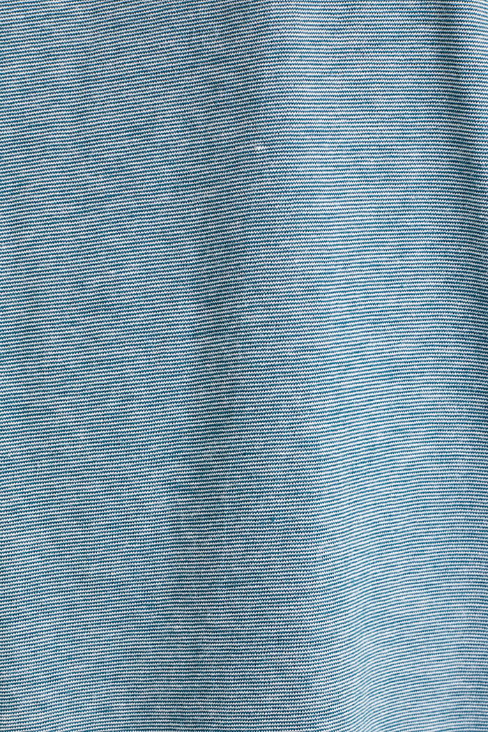 Layered jersey top, 100% cotton, PETROL BLUE, detail image number 4