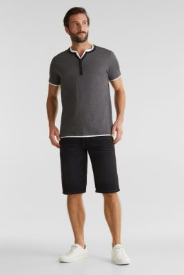 Jersey T-shirt in 100% cotton, BLACK 3, detail