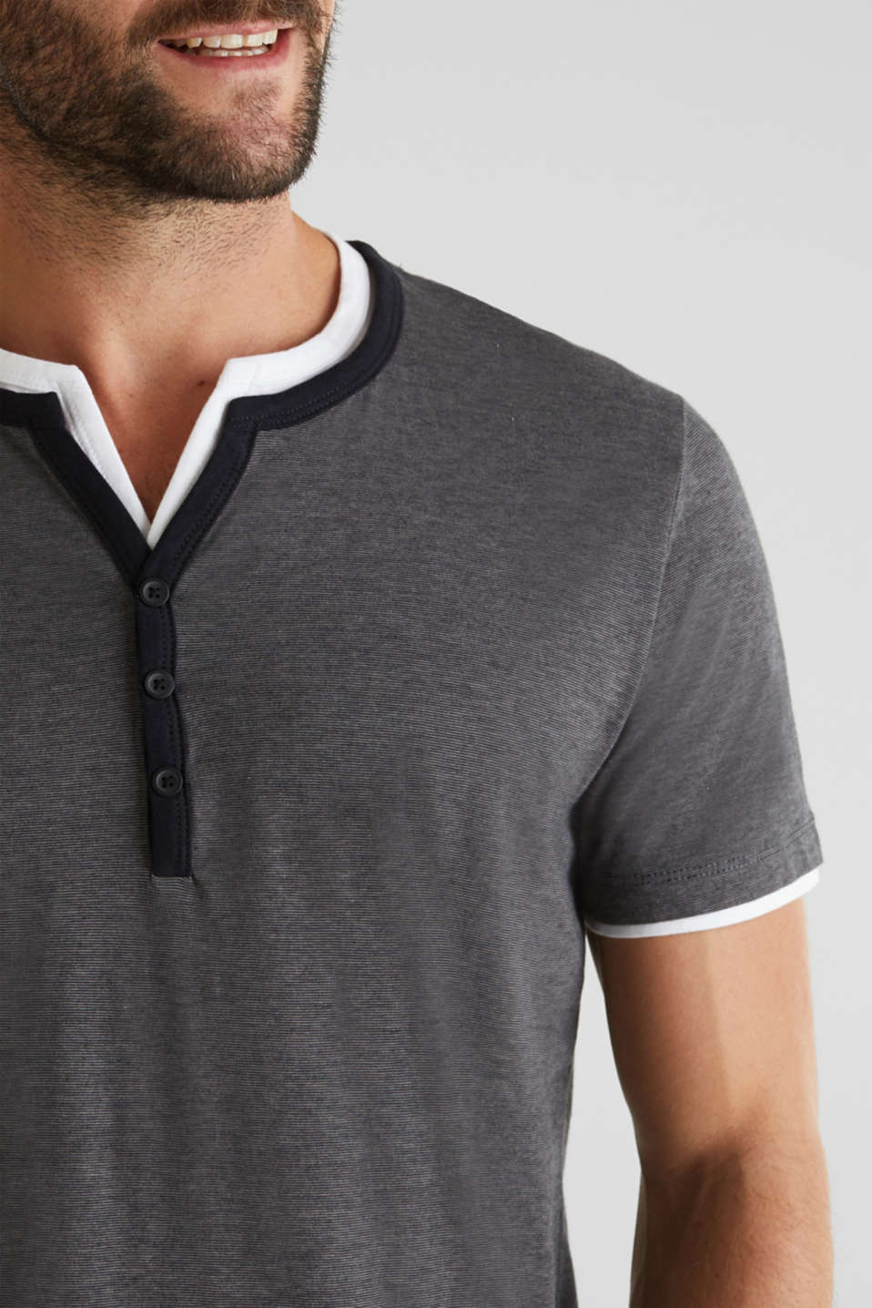 Jersey T-shirt in 100% cotton, BLACK 3, detail image number 1