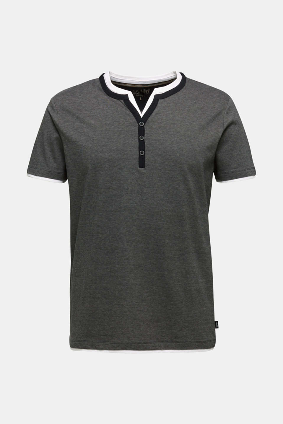Jersey T-shirt in 100% cotton, BLACK 3, detail image number 6