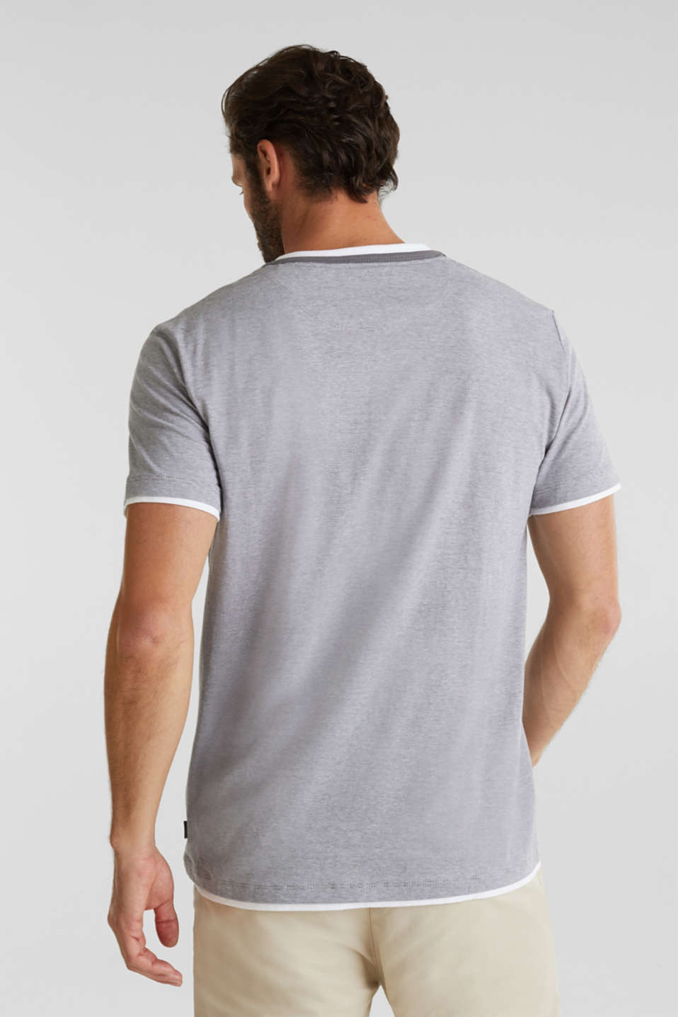 Jersey T-shirt in 100% cotton, MEDIUM GREY 3, detail image number 3