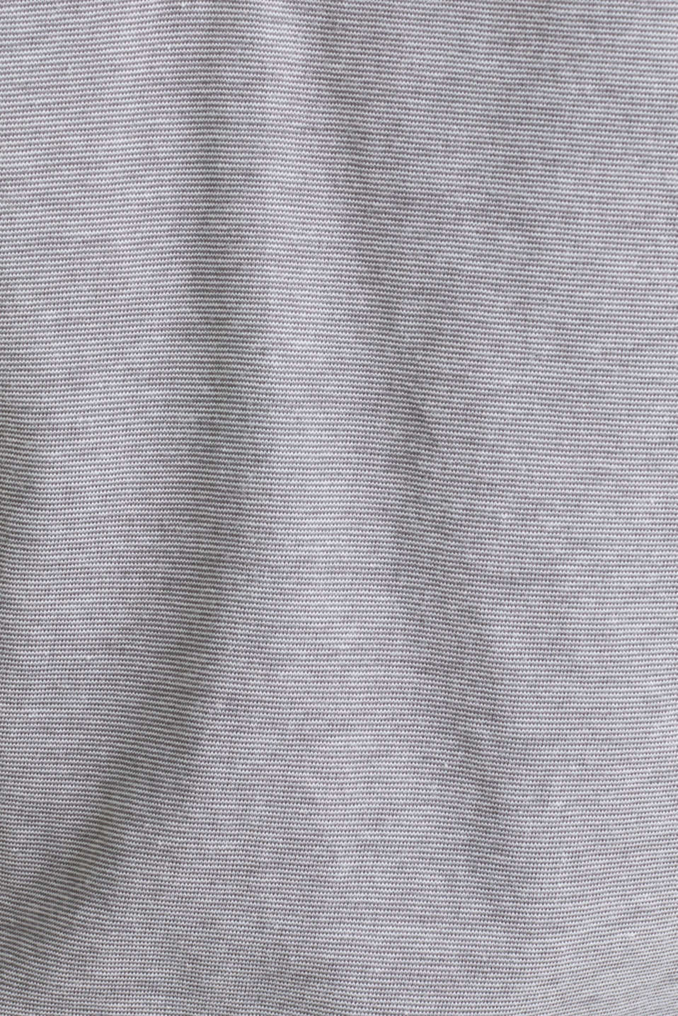 Jersey T-shirt in 100% cotton, MEDIUM GREY 3, detail image number 4