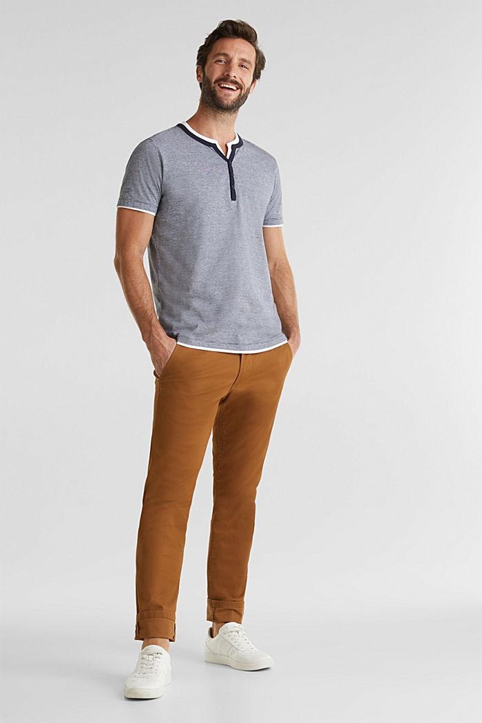 Jerseyowa koszulka w 100% z bawełny, NAVY, detail image number 2