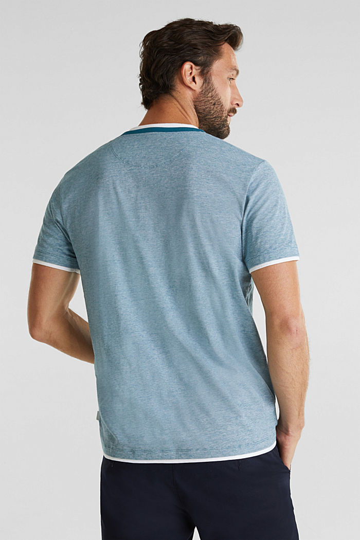 Jersey-Shirt aus 100% Baumwolle, PETROL BLUE, detail image number 3