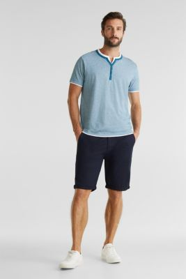 Jersey T-shirt in 100% cotton, PETROL BLUE 3, detail