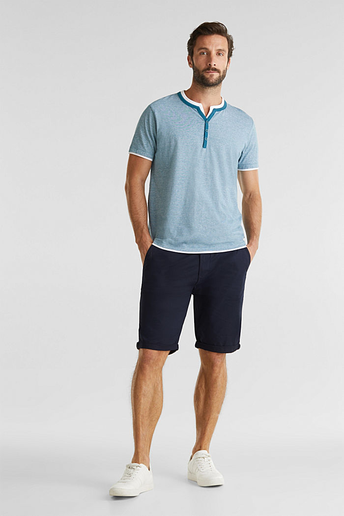Jersey-Shirt aus 100% Baumwolle, PETROL BLUE, detail image number 2