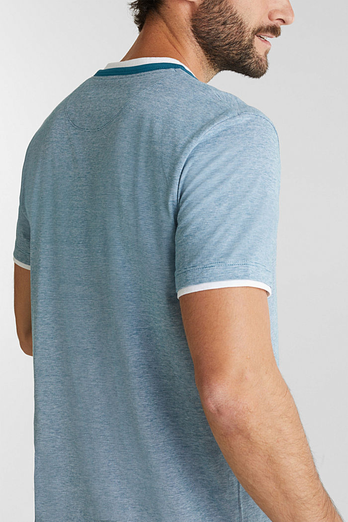 Jersey T-shirt in 100% cotton, PETROL BLUE, detail image number 1