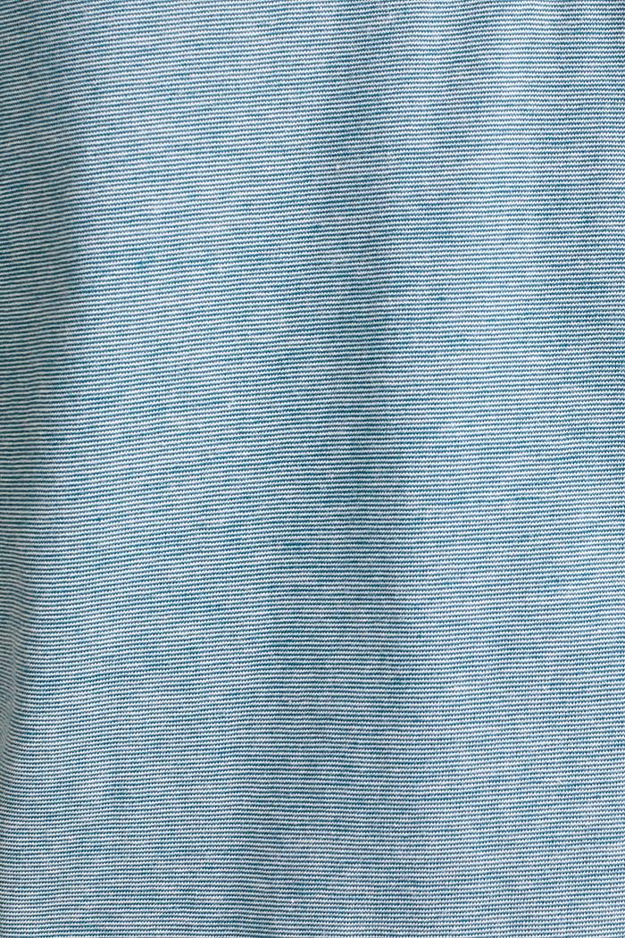 Jersey-Shirt aus 100% Baumwolle, PETROL BLUE, detail image number 4
