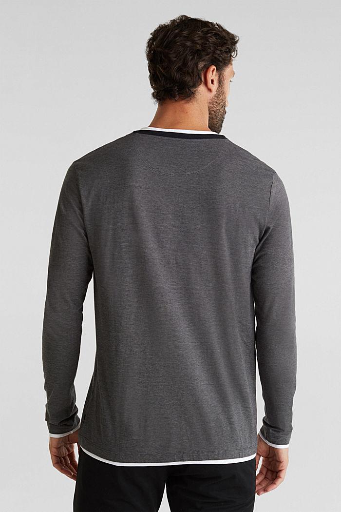 Jersey-Longsleeve aus 100% Baumwolle, BLACK, detail image number 2