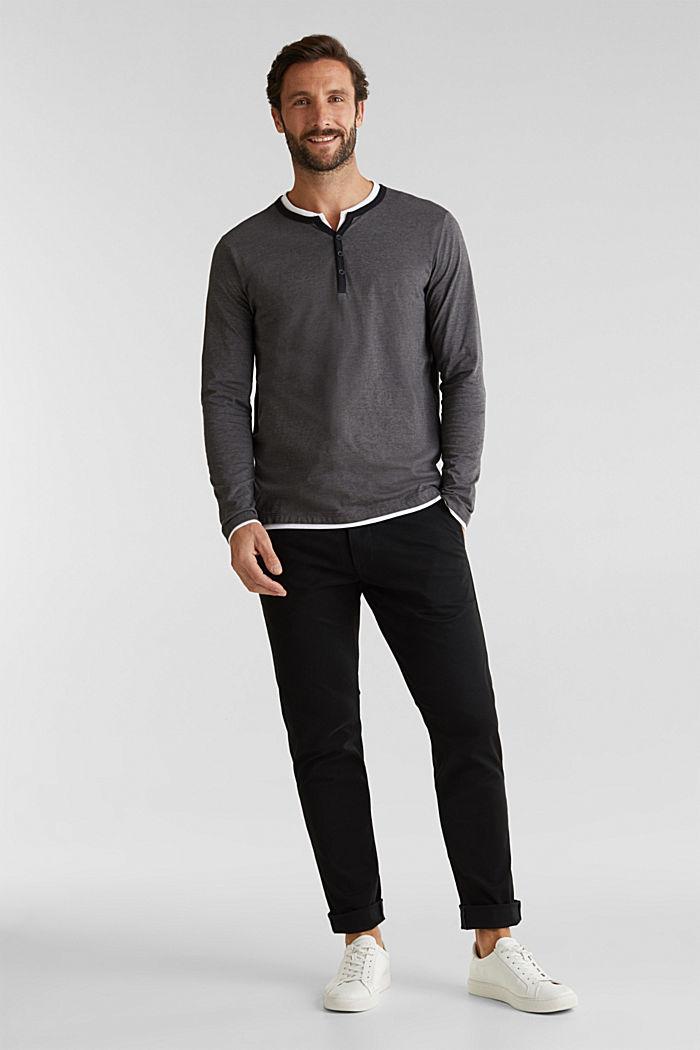 Jersey-Longsleeve aus 100% Baumwolle, BLACK, detail image number 1