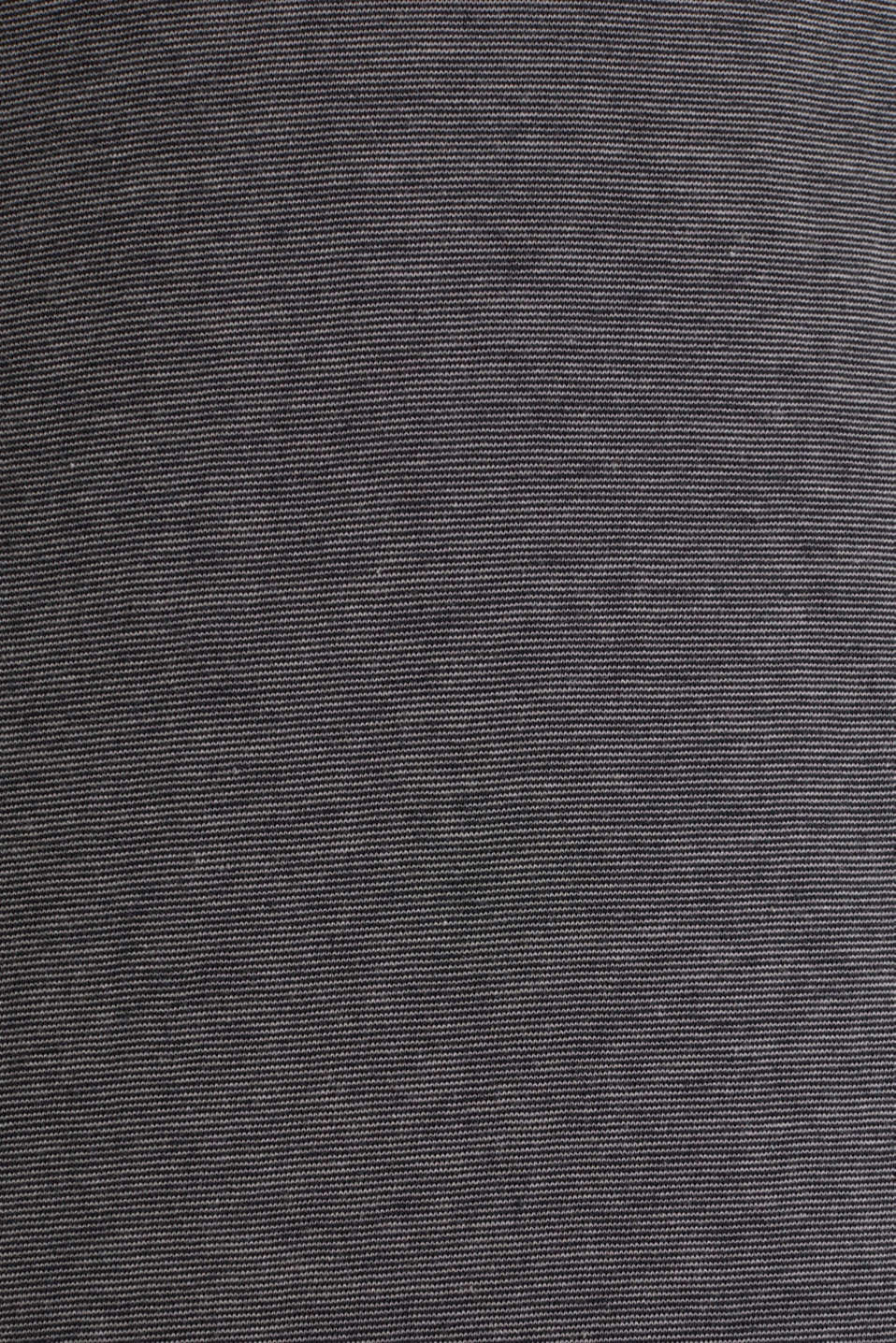 Long sleeve jersey top in 100% cotton, BLACK 3, detail image number 4