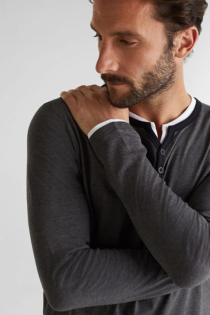 Jersey-Longsleeve aus 100% Baumwolle, BLACK, detail image number 4