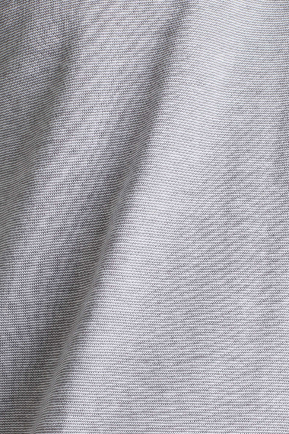 Long sleeve jersey top in 100% cotton, MEDIUM GREY 3, detail image number 4