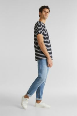 Striped jersey T-shirt in 100% cotton, BLACK 3, detail