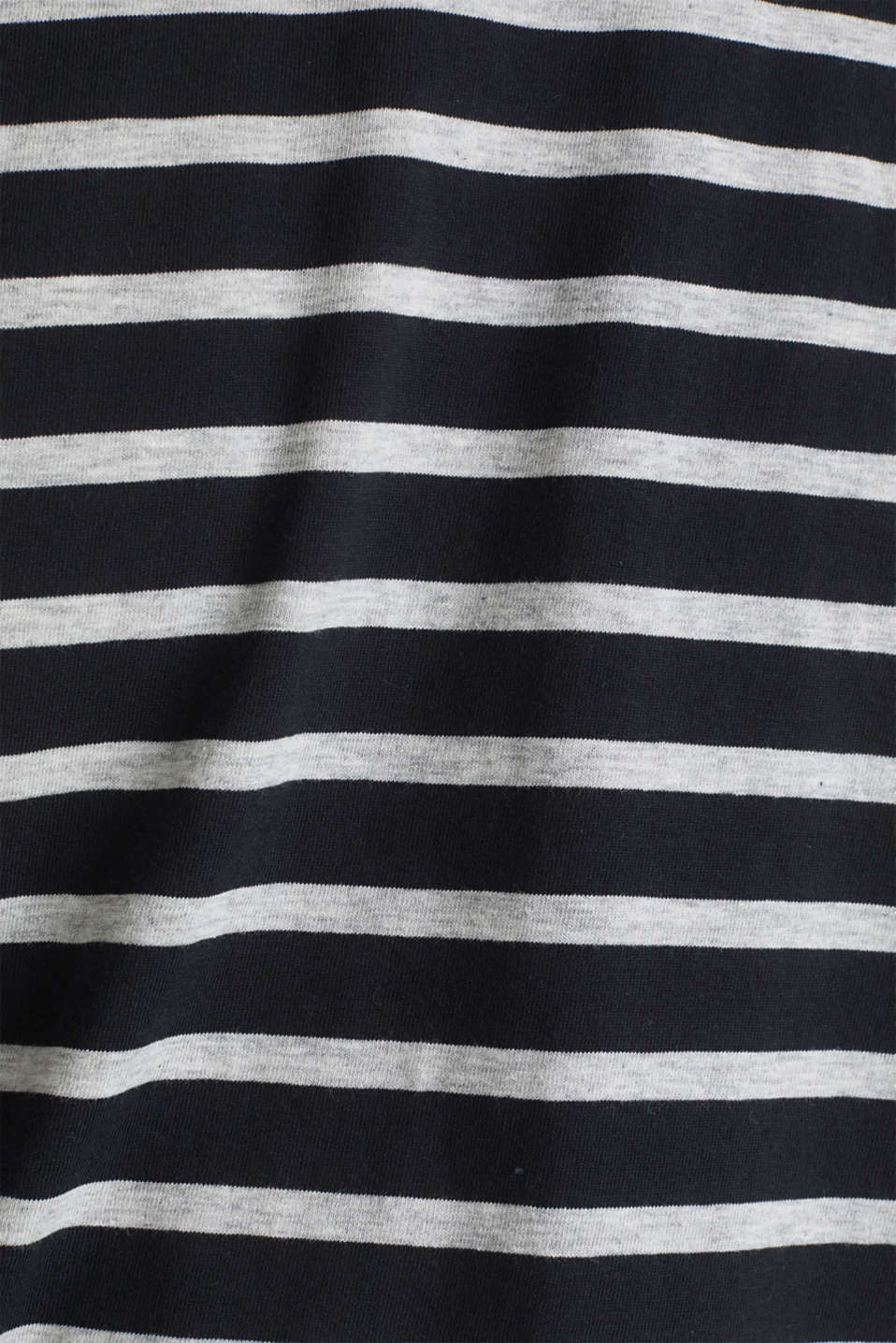 Striped jersey T-shirt in 100% cotton, BLACK 3, detail image number 4