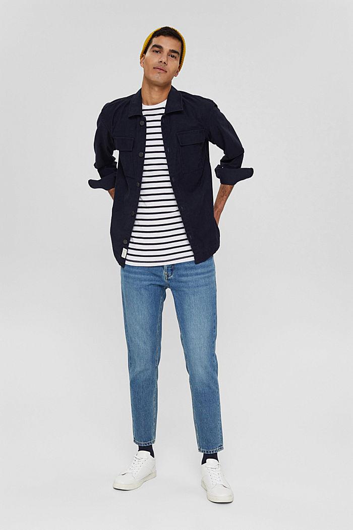Jersey-Shirt aus 100% Baumwolle, WHITE, detail image number 2