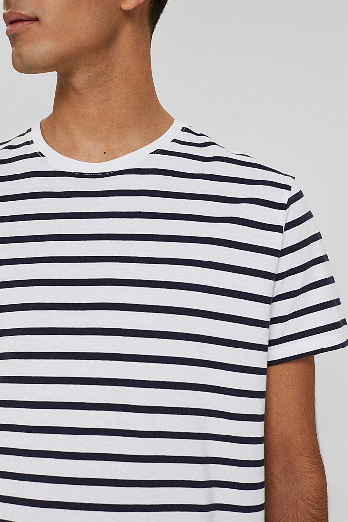 Jersey-Shirt aus 100% Baumwolle, WHITE, detail image number 1
