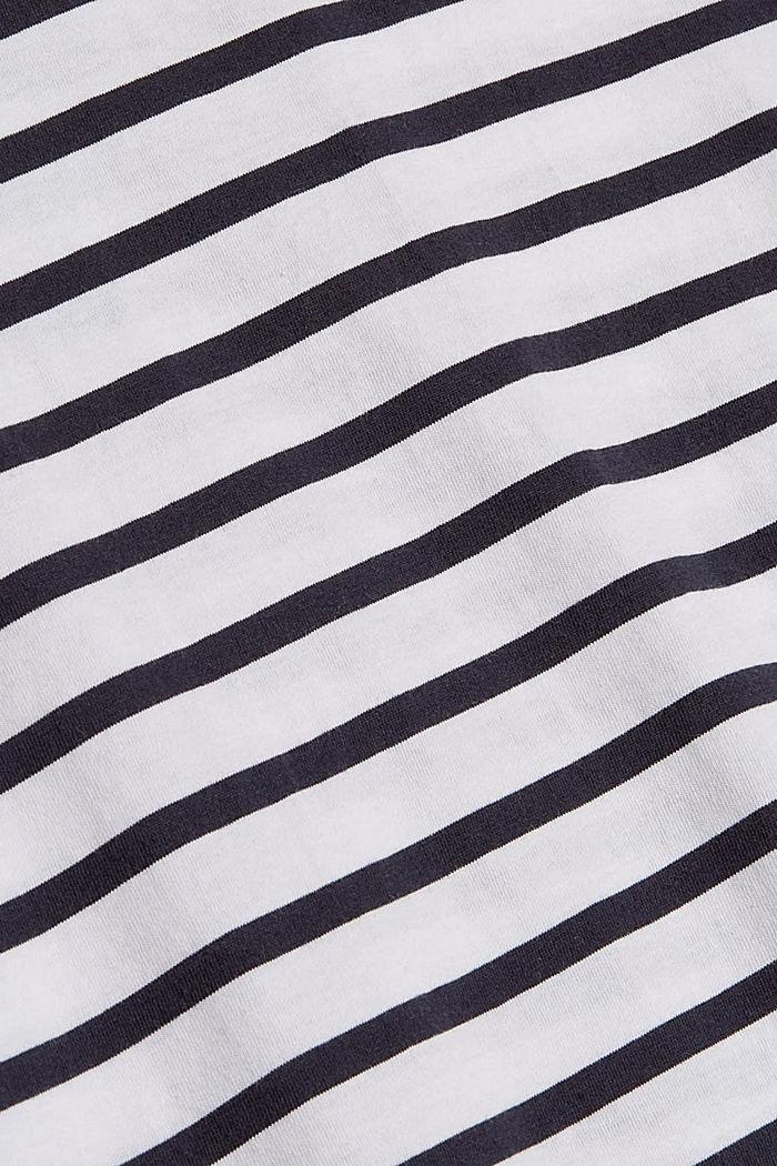 Jersey-Shirt aus 100% Baumwolle, WHITE, detail image number 4