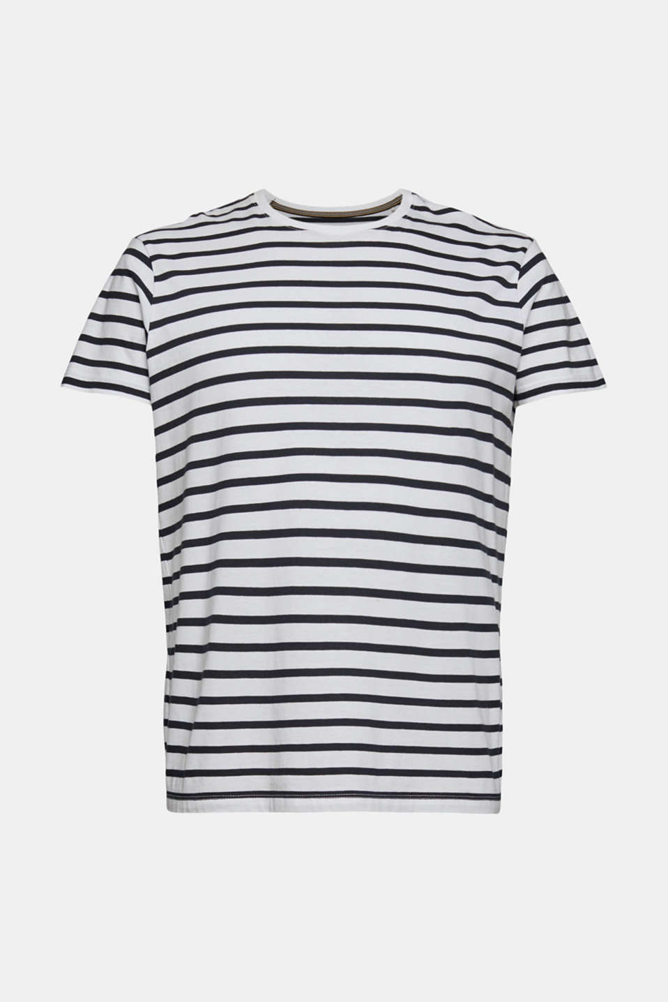 Striped jersey T-shirt in 100% cotton, WHITE 3, detail image number 5