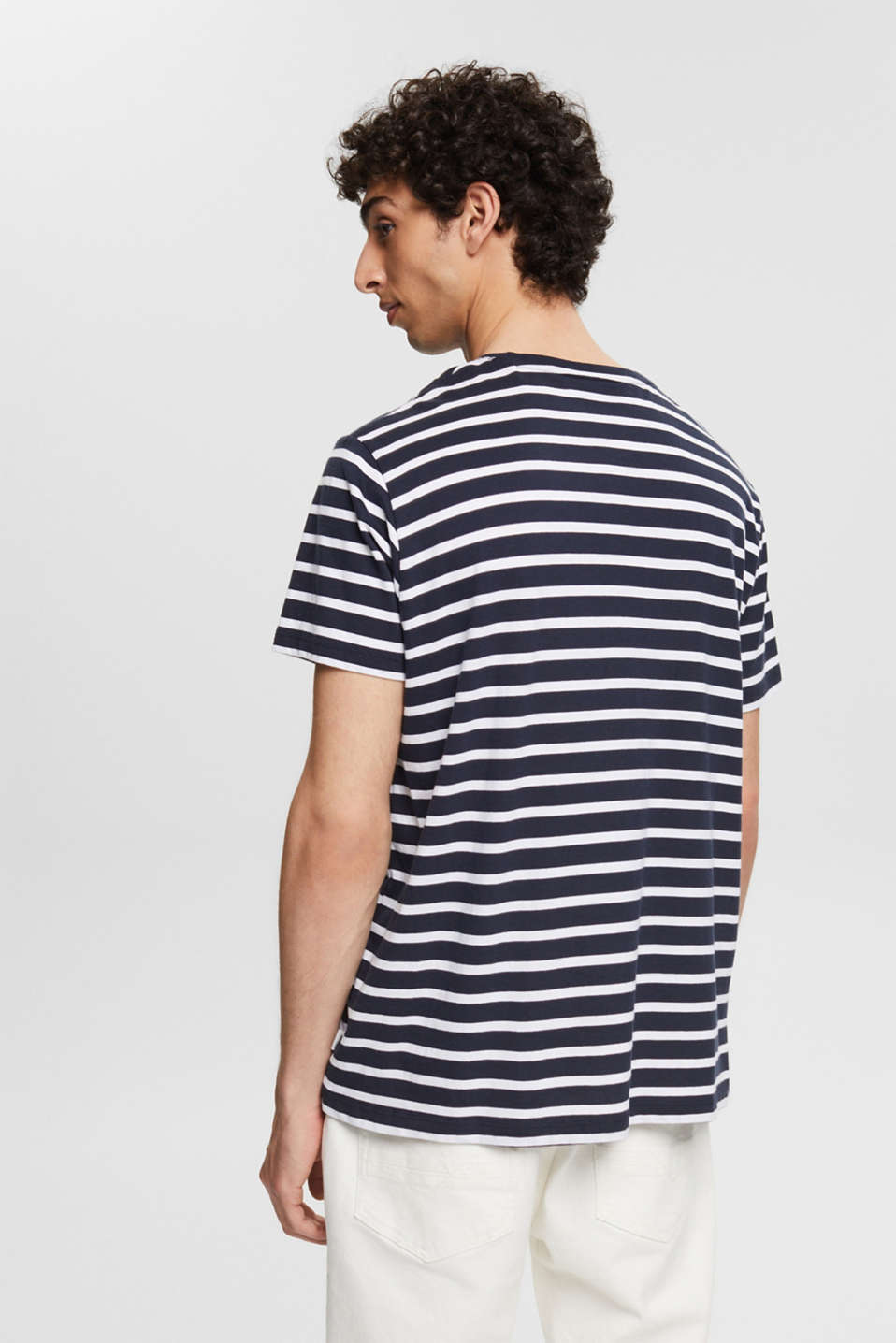 Jersey T-shirt in 100% cotton, NAVY 3, detail image number 2