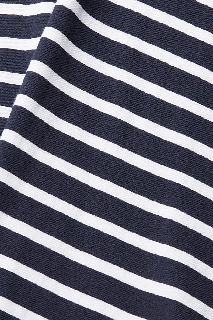 Jersey T-shirt in 100% cotton, NAVY, overview