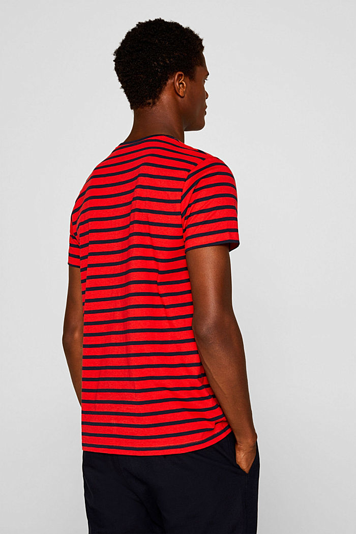 Jersey-Shirt aus 100% Baumwolle, RED, detail image number 3