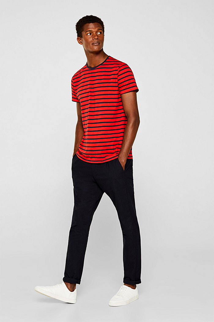 Jersey-Shirt aus 100% Baumwolle, RED, detail image number 4
