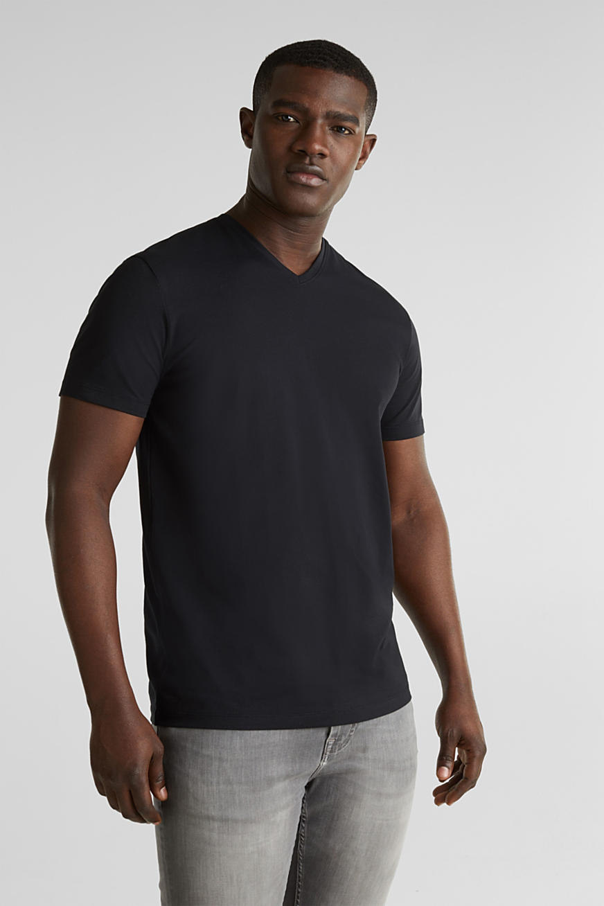 T-shirt en jersey de coton stretch