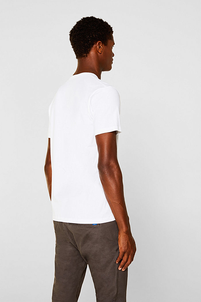 Jersey T-shirt in stretch cotton, WHITE, detail image number 2