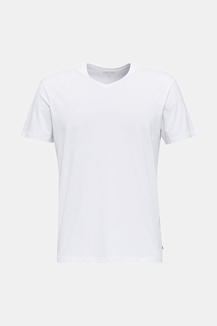 Jersey T-shirt in stretch cotton, WHITE, detail image number 6