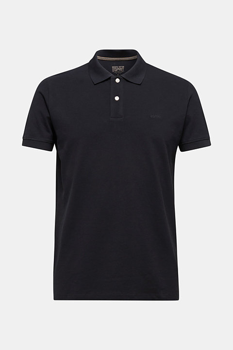 Piqué polo shirt with contrasts, 100% cotton