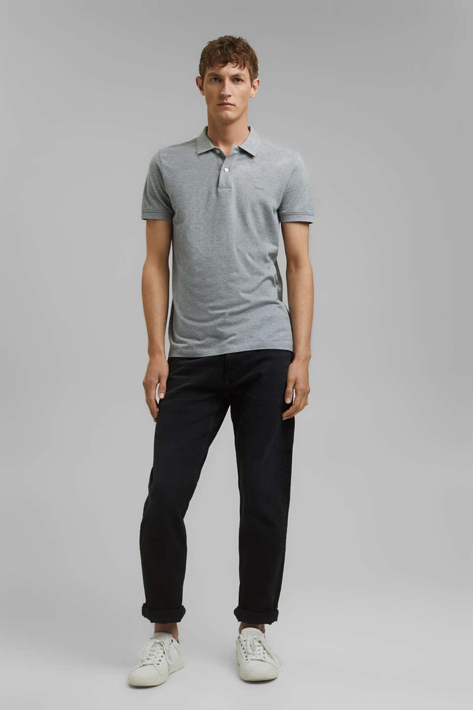Piqué polo shirt in 100% cotton, MEDIUM GREY, detail image number 2