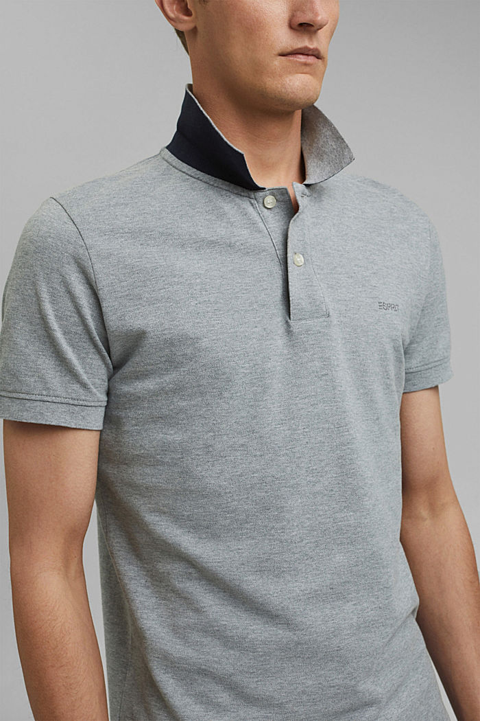 Piqué-Poloshirt aus 100% Baumwolle, MEDIUM GREY, detail image number 1