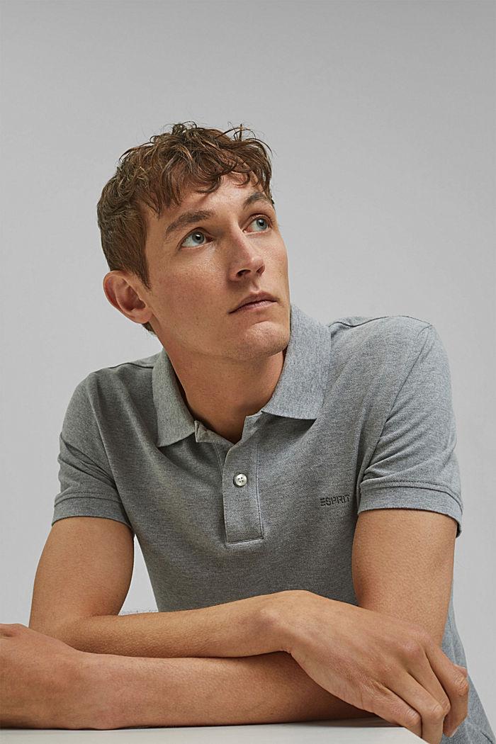 Piqué polo shirt in 100% cotton, MEDIUM GREY, detail image number 4